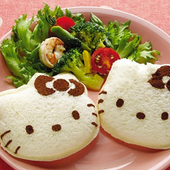 Molde para Sandwich Hello Kitty