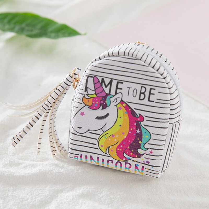 Monedero Mini Mochila - Unicornio