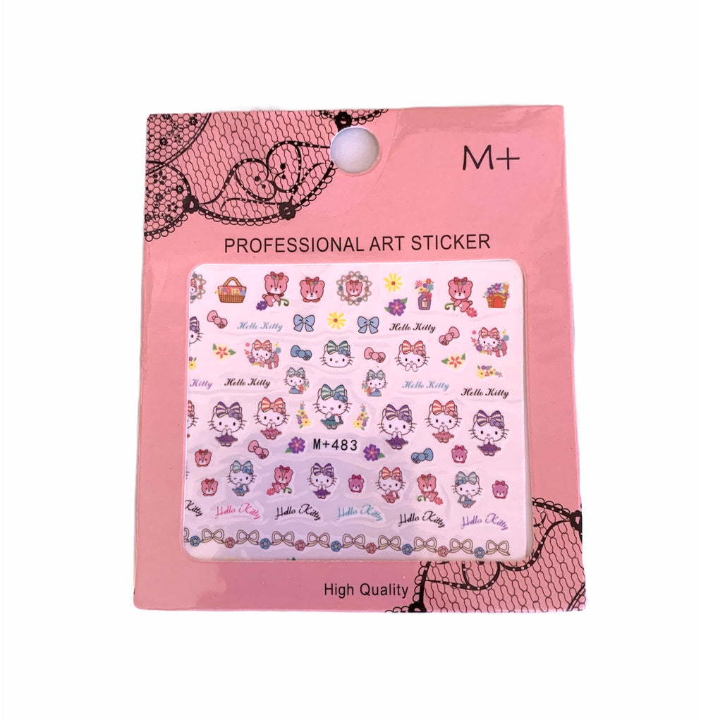Stickers para uñas - Hello Kitty Romantic