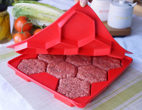 8 in 1 Silicone Burger Press