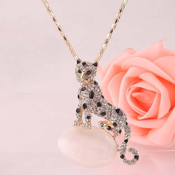 Leopard Dress Chain Necklace