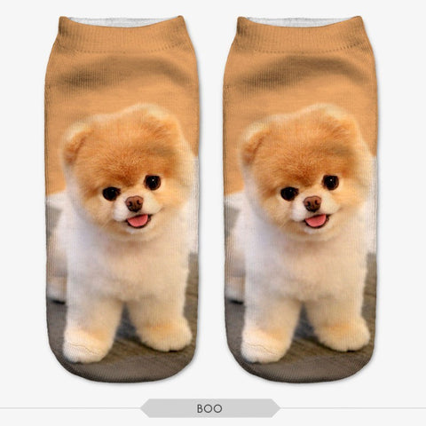 Dog Low-Cut Ankle Socks
