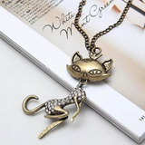 Retro Cat Girl Pendant Necklace SALE