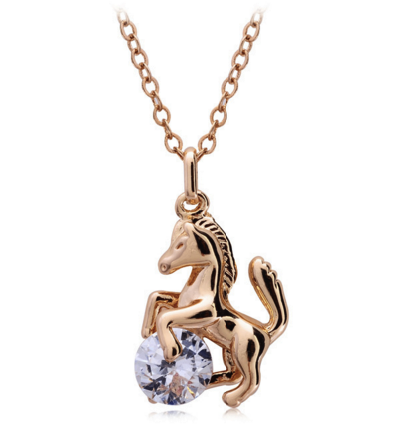 Diamond Horse Necklace