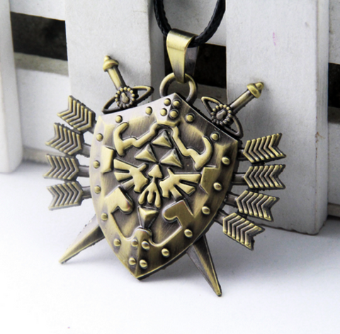 Zelda Shield Arrow Necklace
