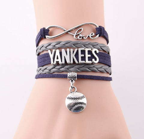 New York Yankees Baseball Bracelet