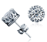 Crown Diamond Earring