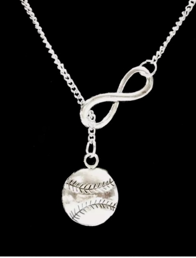 Infinity Baseball Necklace