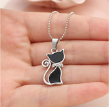 Black Cat Pendant Necklace