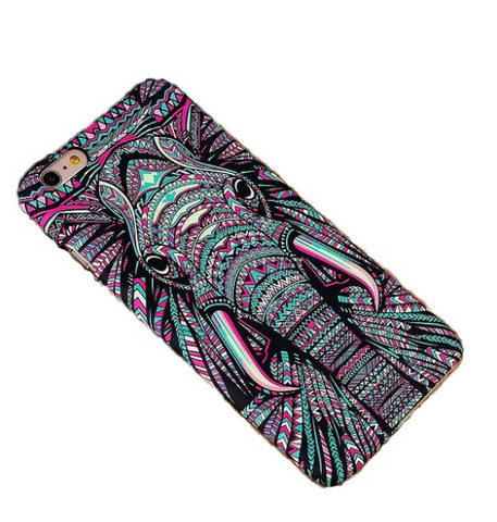 Hand-Painted Elephant iPhone Case