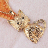 Cat Pendant Dress Chain Necklace
