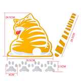 Cat Moving Tail Window Wiper Decal