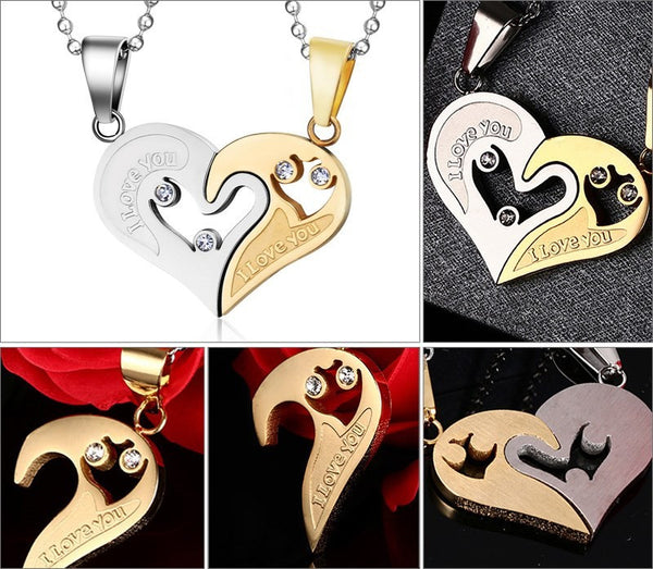 I Love You Couple Pendant Necklace