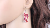 Acrylic Cat Drop Earrings