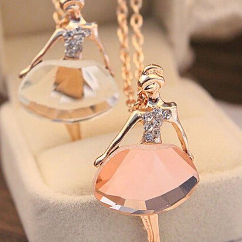 Dancing Ballet Girl Pendant Necklace