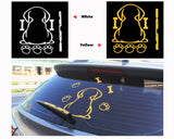 Dog Moving Tail Window Wiper Decal