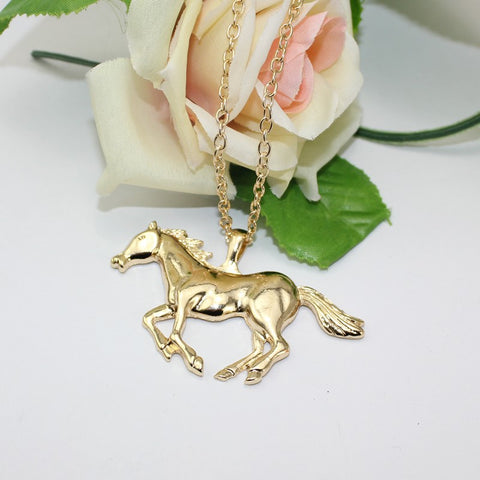 Running Horse Pendant Necklace