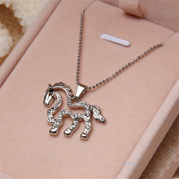 Running Horse Charm Pendant Necklace