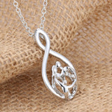 Parents and Children Infinity Pendant Necklace