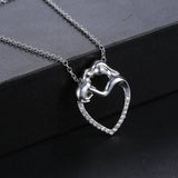 Diamond Kiss Cat Pendant Necklace