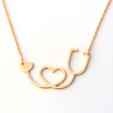 Stethoscope Heart Collar Body Chain Necklace