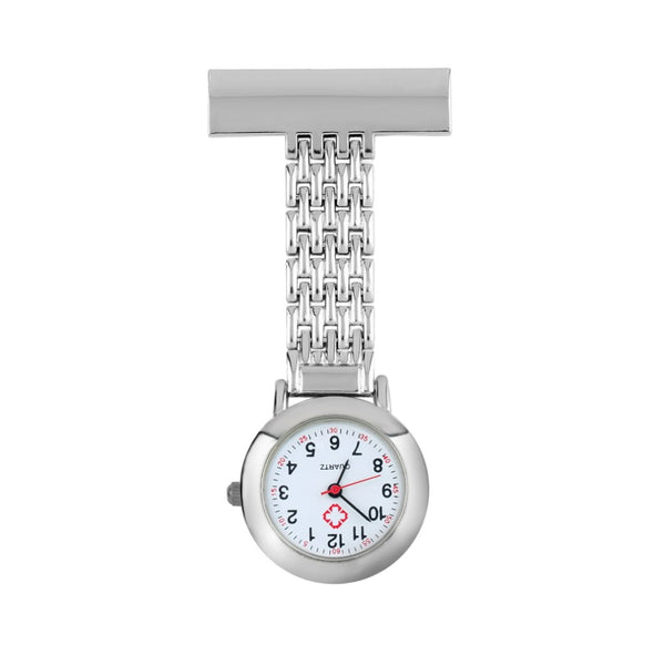Nurse Stainless Steel Brooch Watch