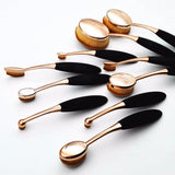 Oval Makeup Brush Set