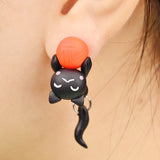 Polymer Clay Cat Stud Earrings