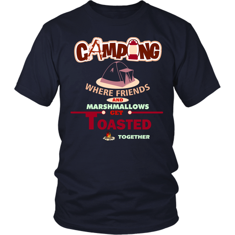 Camping, Friends & Marshmallow Tshirt