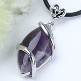 Natural Amethyst Horse Eye Pendant