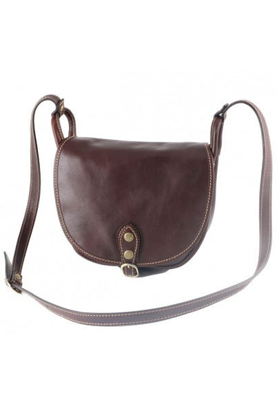 """Made In Italy"" Women's Leather Handbag - Maison du Roi - Dark brown - Large Purse Shop - 3"