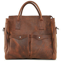 """Designer Inspired"" Distressed Leather Weekend Bag - Leather Hand Luggage Large Purse Shop"