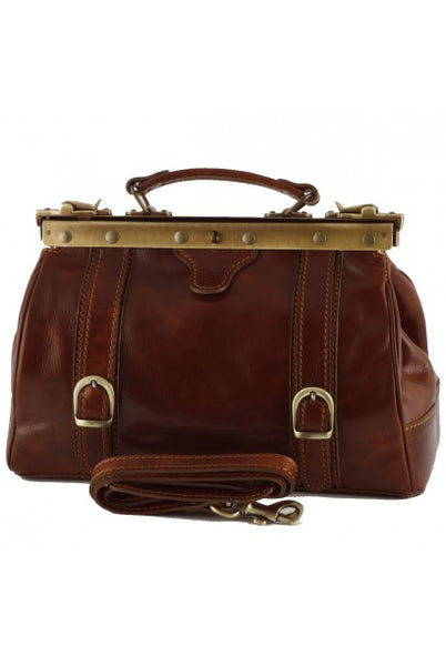 """Made In Italy"" Leather Doctor's Bags - Arco di Trionfo - Leather Doctors Bag Large Purse Shop"