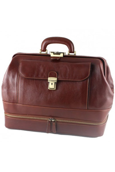 """Made In Italy"" Leather Doctor's Bags - Royal - Leather Doctors Bag Large Purse Shop"