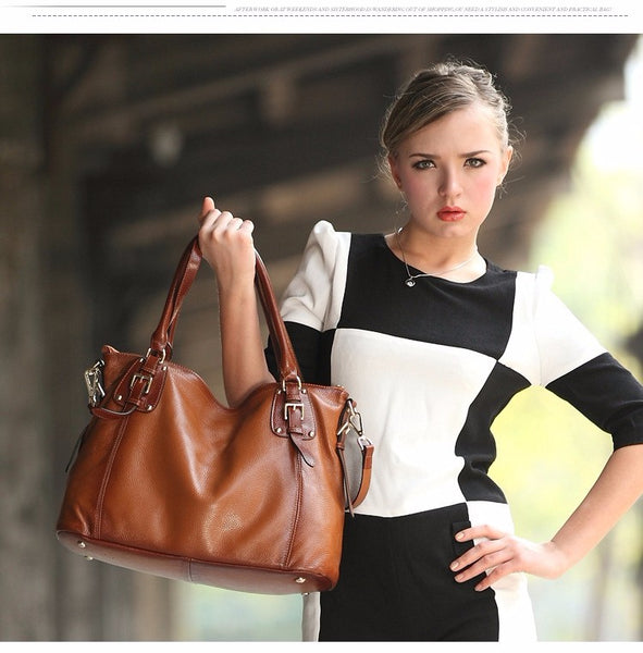 Designer Retro Leather Large Purse / Tote Bag For Women