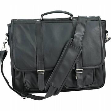 Solid Genuine Leather Attache Case, Briefcase - Black - Leather Briefcase Large Purse Shop
