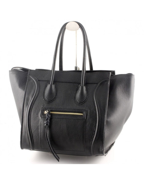 """Made In Italy"" Women's Leather Handbag - Darling Arbour - Italian Leather Handbags Large Purse Shop"