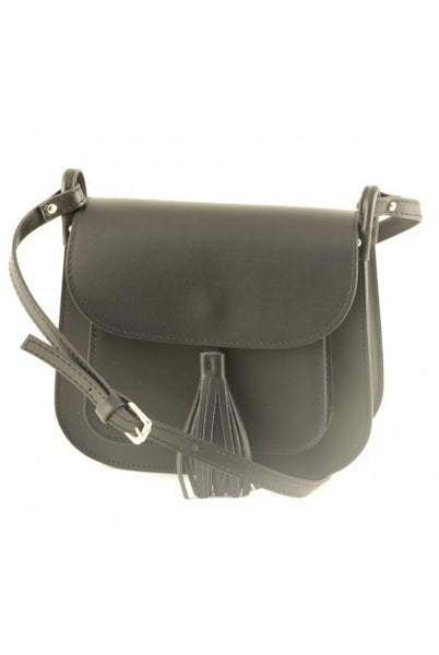 """Made In Italy"" Leather Shoulder Bag - Mimes - Italian Leather Handbags Large Purse Shop"