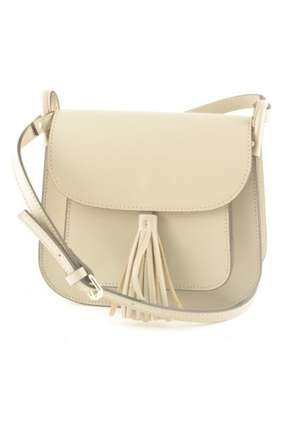Italian Leather shoulder bag light taupe