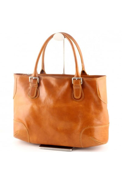 """Made In Italy"" Leather Shoulder Bag - The Crooked - Italian Leather Handbags Large Purse Shop"