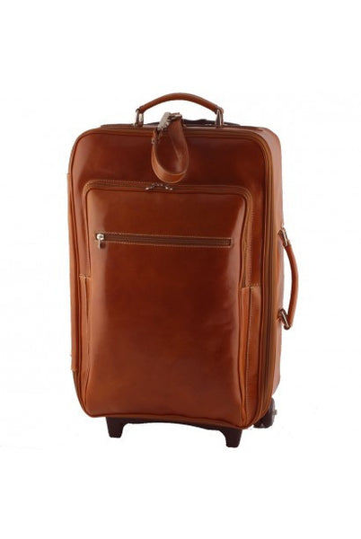 """Made In Italy"" Leather Trolley Travel Bag - Castle of Good Hope - Leather Hand Luggage Large Purse Shop"