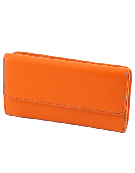 """Made In Italy"" Women's Leather Wallet - Tri-fold - Leather Wallet Large Purse Shop"