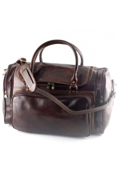 """Made In Italy"" Leather Hand Luggage Travel Bag - London Eye - Leather Hand Luggage Large Purse Shop"