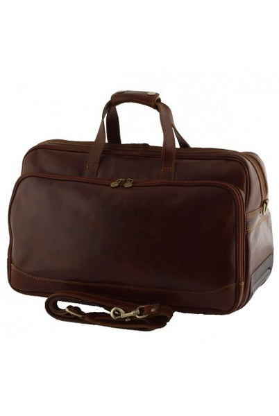 """Made In Italy"" Trolley Leather Travel Bag - Southwark - Leather Hand Luggage Large Purse Shop"
