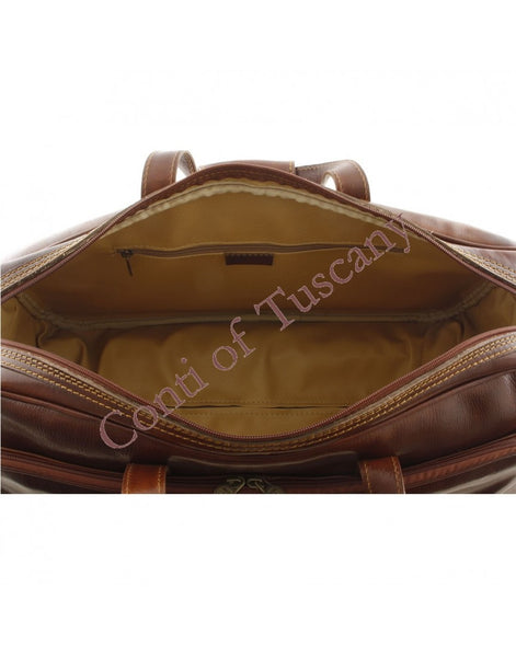 """Made In Italy"" Trolley Leather Travel Bag - Southwark"