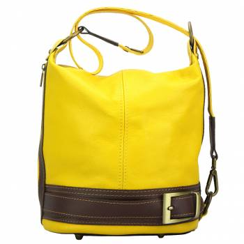 Firenze Italian Leather Bucket Bag / Backpack Purse