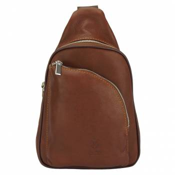Firenze Italian Leather Backpack With Single Strap