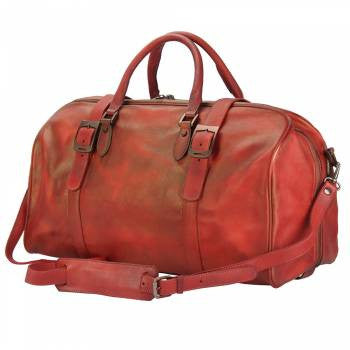 Firenze Vintage Italian Leather Hand Luggage - Leather Hand Luggage Large Purse Shop