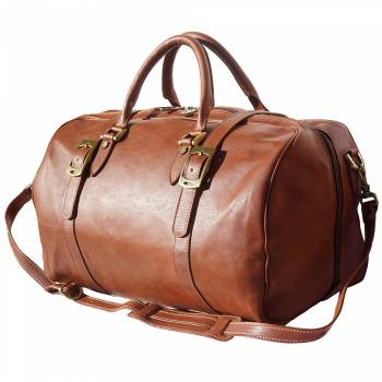 Firenze Italian Leather Travel Bag / Weekender