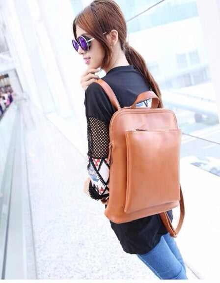 Designer Diaper Bag - Leather Backpack